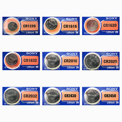 Genuine Sony Lithium 3v Coin Cell Batteries [ALL SIZES] 1 2 5 x 10+ QTY