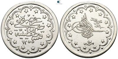 Savoca Coins Ottoman Empire Silver Coin Traces Mounting 23,59g/36mm $KBP5458