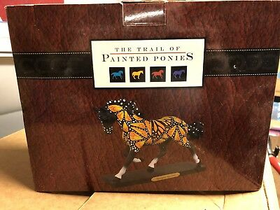 Trail Of The Painted Ponies Butterflies Run Free Rare Full Size Horse Sculpture