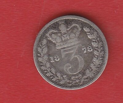Great Britain 3 Pence 1878 Silver