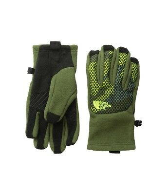The North Face Youth Denali Etip Gloves Big Boys Size Small Green NEW