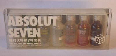 ABSOLUT VODKA SEVEN , 7x 50 ml + Eiswürfelform in OVP , Absolut China