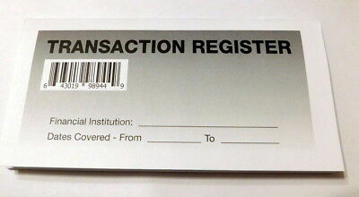 20 easy to read checkbook transaction register large print check