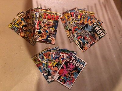 THE MIGHTY THOR BRONZE AGE MARVEL COMICS LOT of 15