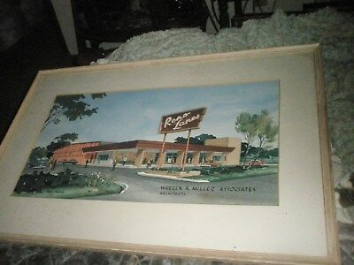 1950's Original framed Water Color by Doran Welton Barham.