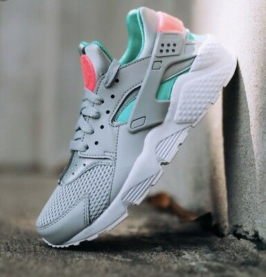 feba0c12ae806 NIKE AIR HUARACHE RUN SOUTH BEACH SZ 13 WOLF GREY SUNSET PULSE 318429-053  New
