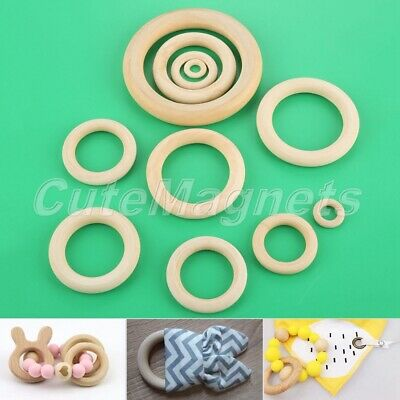 1 Set Wood Spacer Big Hole Rings Polish Smooth for Jewelry Making Birthday Gift
