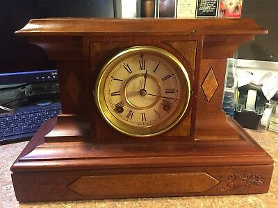 Antique Waterbury Fillmore Mantel Clock 8 day Mechanical Movement