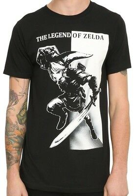 Nintendo Legend of Zelda Link Tonal Black T-Shirt New with Tags