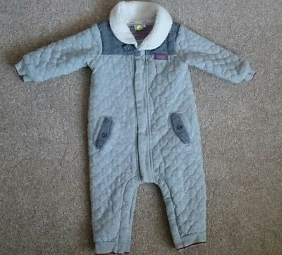 Ted Bakers Boys Grey Quilted Suit Age 9-12 Months
