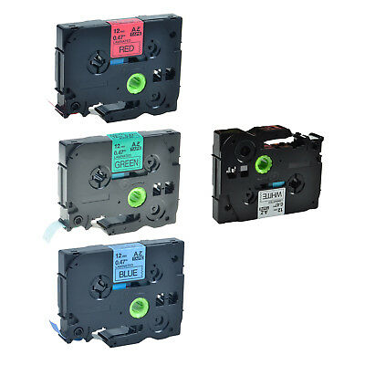 4 Pack TZe TZ 231 431 531 731 Label Tape for Brother P-Touch PT-2600 1/2'' 12mm