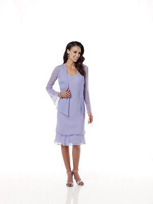 Mother of the Bride/Groom Knee Length Dress Semi Formal Occasion w/ Jacket Sz 18