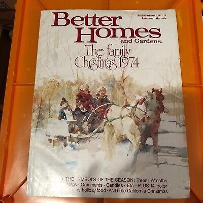 Vintage Better Homes And Gardens Christmas 1974 Back Issue
