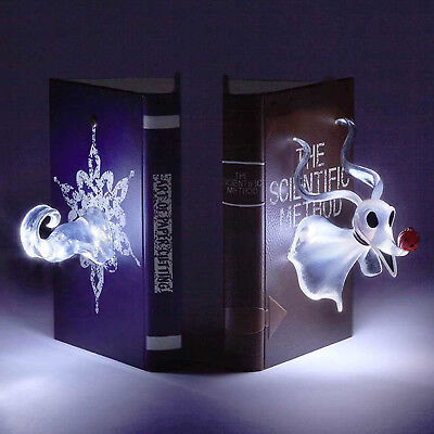 Disney Showcase Lighted Nightmare Before Christmas Zero Bookends Light Up New