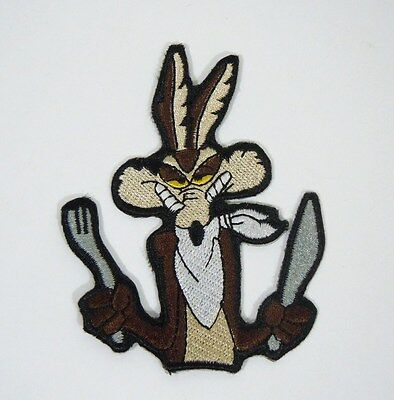 """WILE E. COYOTE Embroidered Iron-On Patch - 3 1/2"""" - Looney Tunes.- Acme Corp."""