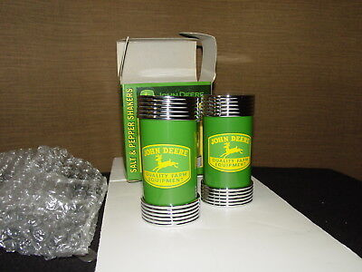 John Deere Green and Yellow Salt and Pepper Shakers - Very Sturdy, High Quality