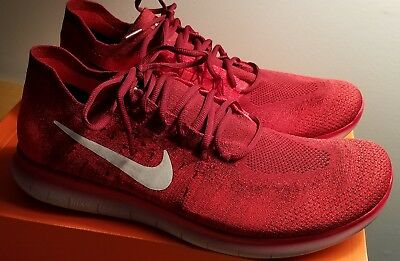 New Nike Free RN Flyknit 2017 red 880843-600 Size 14