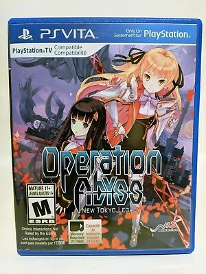 Operation Abyss New Tokyo Legacy -PS Vita- Replacement Case *No Game*