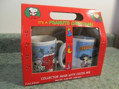 Christmas in July - Set of 2 Peanuts Christmas Coffee Cups - in original box