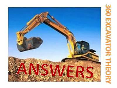 CPCS Excavator 360 A59 Theory Test Style Answers 2018 Update