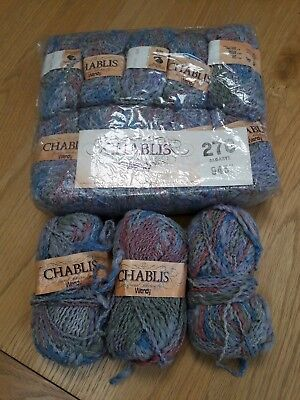 Vintage Knitting Yarn, Wendy Chablis, grey mix, 650gm