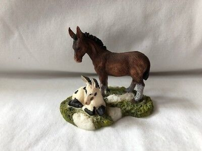 O'Well Figurine Horse Donkey with Foal Collectible