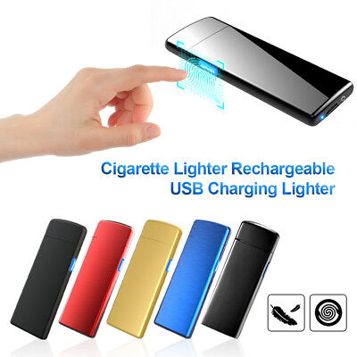 AU Electric USB Rechargeable Windproof Flameless Lighter Cigarette Lighter Gift