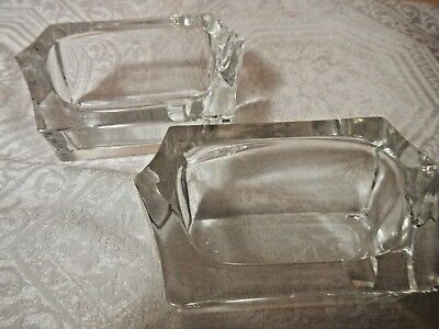Ashtrays in Crystal Made by Daum, France set of 2