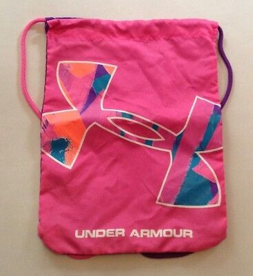 UNDER ARMOUR Pink Purple Drawstring Bag T12