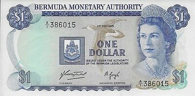 1975 Bermuda $1.00 Note, Uncirculated, Pick #28a