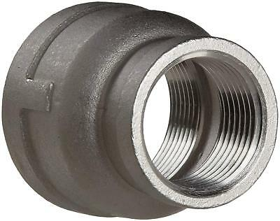 "Stainless Steel 304 Cast Pipe Fitting, Reducing Coupling, Class 150, 2-1/2"" X"