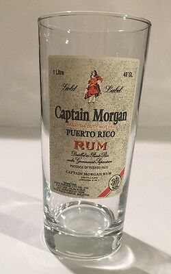 CAPTAIN MORGAN RUM, PINT GLASS, Bar Glass Beer Glass Cocktail Gold Label