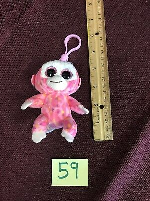 New Ty Beanie Boos TANGERINE the Tan Monkey Key Clip Size Ships from USA!