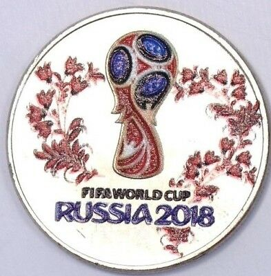 Russia 25 rubles 2018 FIFA Football Soccer world cup Colored Coin 1st Issue R.17