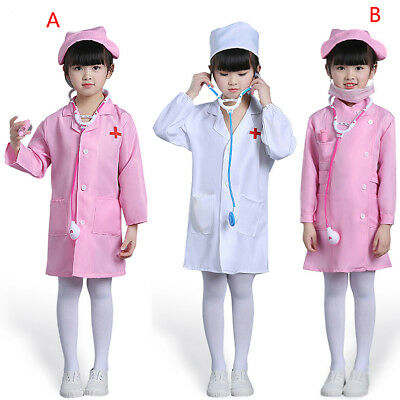 ecc70ce63bd Children Kids Doctor Coat Hat Simulation Doctor Professional Role Play  Costume