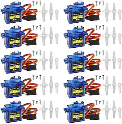 (3/5/10/20)Pack SG90 Micro 9g Servo for RC Plane Helicopter Boat Car USA Stock