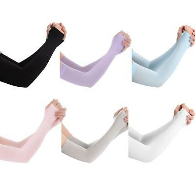 1Pair Cooling Arm Sleeves Cover UV Sun Protection Sports Basketball Golf Driving