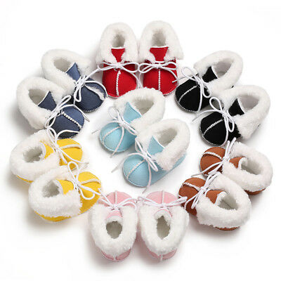 UK Stock Baby Girl Boy Warm Boots Booties Infant Toddler Newborn Snow Slippers