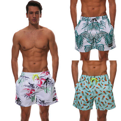 Mens Board Shorts Boardies Beach Swim Casual Elastic Waist Pockets M L XL 2XL