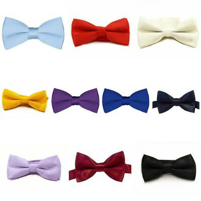 Solid Color Pre Party Prom Bow Tie For Kids