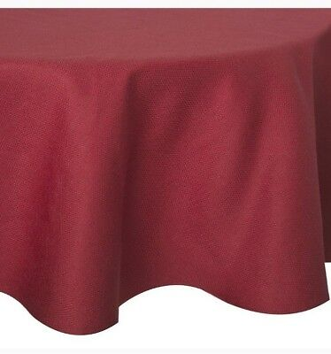 70 Inch Round Table Cloth.Basketweave 70 Inch Round Tablecloth In Red