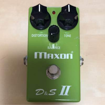 Used Maxon D&S Ii Distortion & Sustainer Distortion Electric Guitar Effect Pedal
