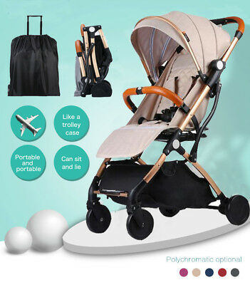 New Lightweight Baby Stroller Pram Easy Foldable Travel Pushchair Carry-On Plane