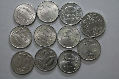 Germany Ddr 50 Pfennig + 1 Mark Many Old Coins A83 Ps3