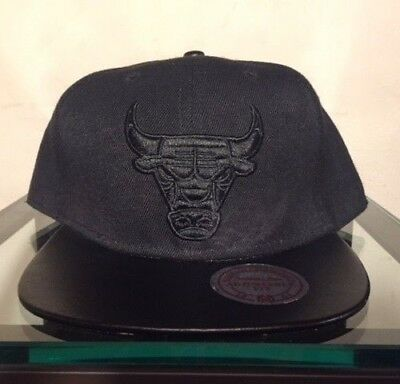 26731ab6f37 Mitchell & Ness Chicago Bulls Snapback Hat Match Air Jordan 13 Bred Black  Red