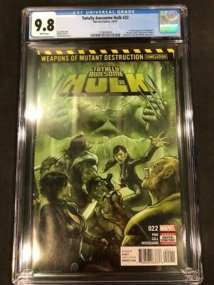 Totally Awesome Hulk #22 1st Print 1st Full Appearance Weapon H CGC 9.8 NM/Mt