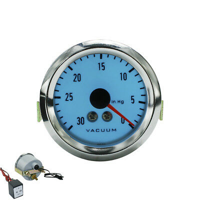 52mm Car Electrical Luminescent Vacuum Gauge With Step-down Transformer Meter