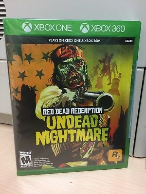 Red Dead Redemption Undead Nightmare Xbox One + Xbox 360 Factory Sealed!!