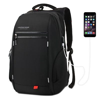 37L Nylon Waterproof Laptop Backpack School Business Travel Casual Daypack