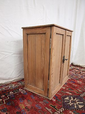 Antique Victorian pine wall / side cabinet